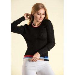 Черна блузка фино плетиво
