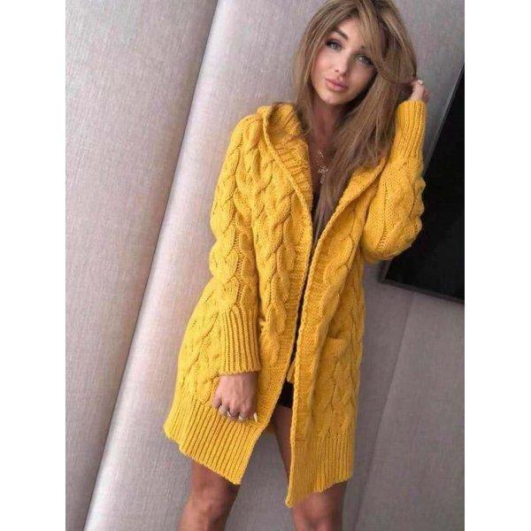 Дамска плетена жилетка