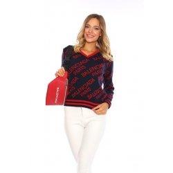 Дамски памучен пуловер