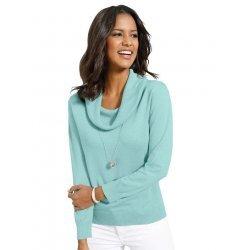 Памучна блуза резедава