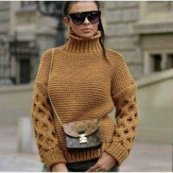 Плетен пуловер горчица