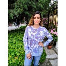 Блуза с дълъг ръкав фино плетиво