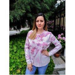 Блуза с дълъг ръкав за есента фино плетиво