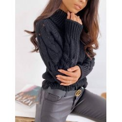 Дамски черен пуловер