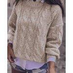 Дамски бял пуловер