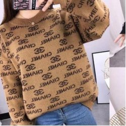 Дамски пуловер CHANEL капучино