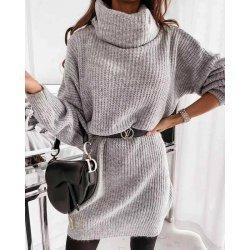 Плетен блузон с поло яка