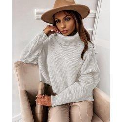 Плетен пуловер екрю