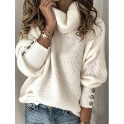 Плетена блуза с шал яка