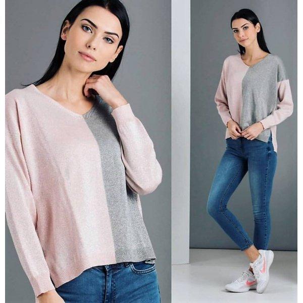 Блуза фино плетиво ламе