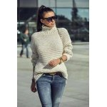Бял зимен пуловер