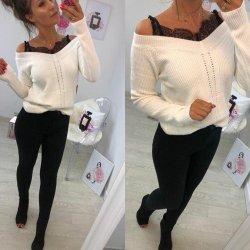Плетена блуза бяла
