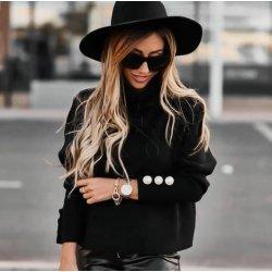 Черна блуза поло