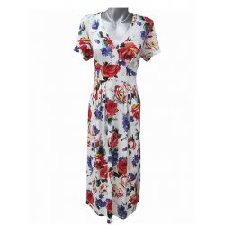 Дълга рокля на цветя XXL