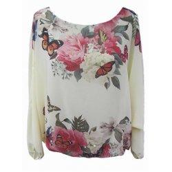 Шифонена блузка на цветя