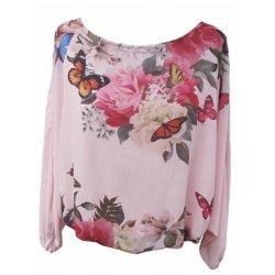 Блуза прилеп на цветя