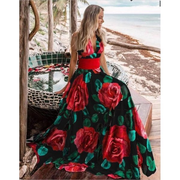 Лятна рокля на цветя Валерия