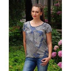 Блуза памучна с щампа