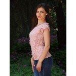 Розова блузка с къс ръкав