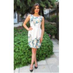 Бяла лятна рокля на цветя