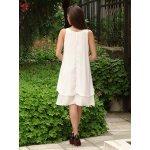 Бяла шифонена рокля