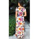 Дълга рокля от трико на цветя