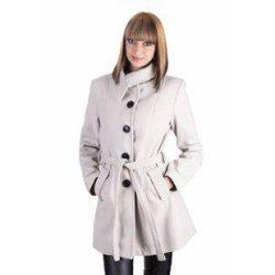 Дамско бяло палто