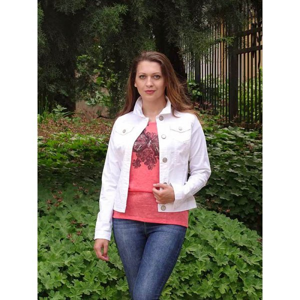 Бяло памучно яке