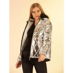 Късо сребристо яке