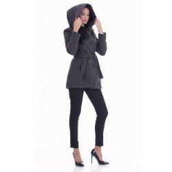Дамско зимно палто с качулка