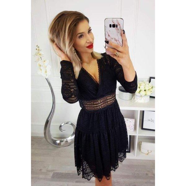 Черна рокля от дантела