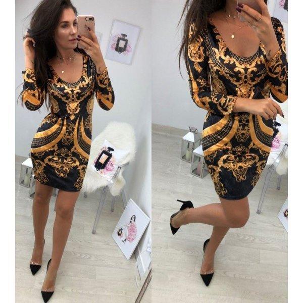 Модерна рокля от плюш