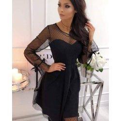 Дамска вечерна рокля с тюл