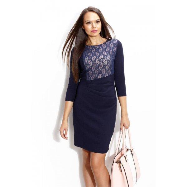 Официална тъмно синя рокля
