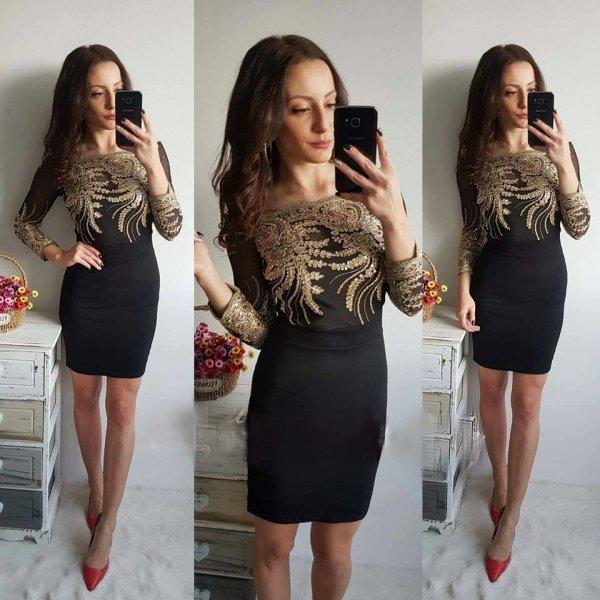 Вечерна рокля с бродерия