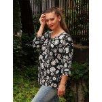 Блуза на цветя голям размер