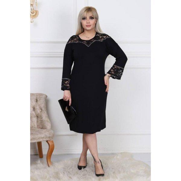 Черна елегантна рокля