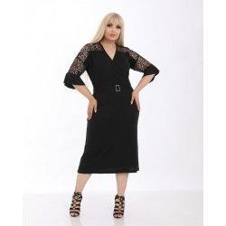 Черна макси рокля с дантела