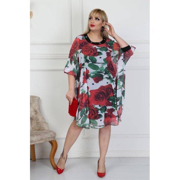 Елегантна шифонена рокля макси