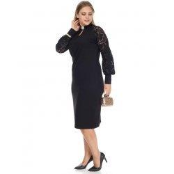 Официална рокля с дантелени ръкави