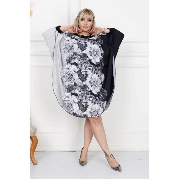 Шифонена рокля голям размер