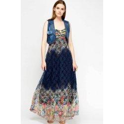 Дълга рокля от дантела с елече