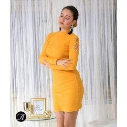 Жълта рокля полу-поло