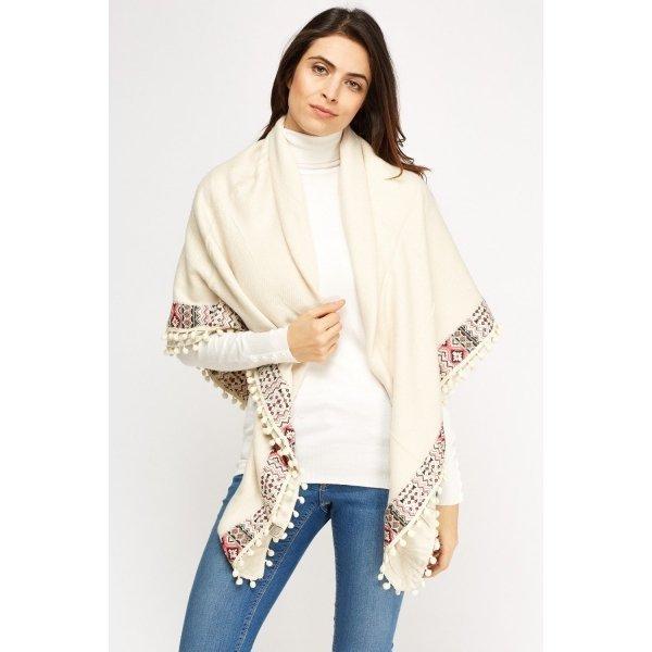 Дамски шал едноцветен