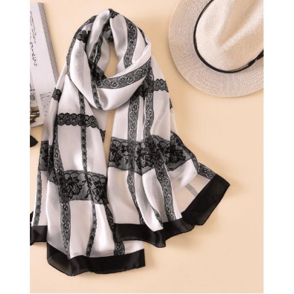 Копринен шал лукс