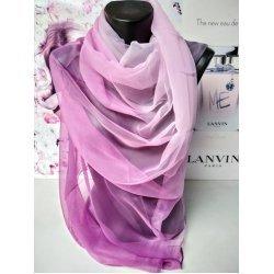 Лилав омбре копринен шал