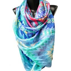 Многоцветен летен шал