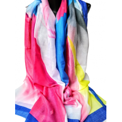 Многоцветен шал от памук