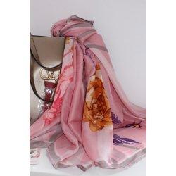 Розов копринен шал