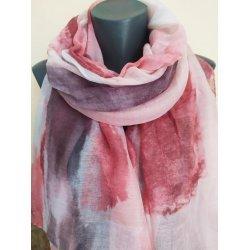 Розово-лилав шал от вискоза